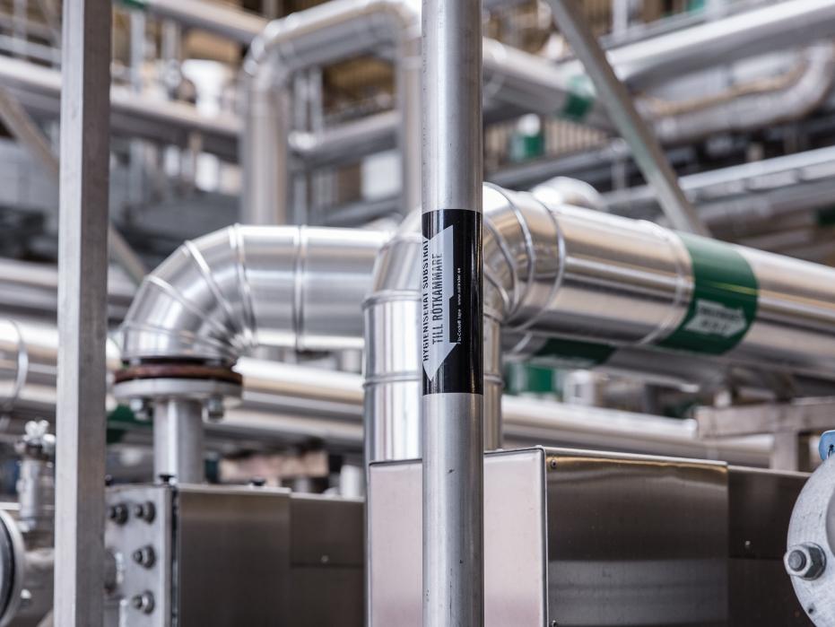 Biogas utvinns av samhällets organiska avfall.